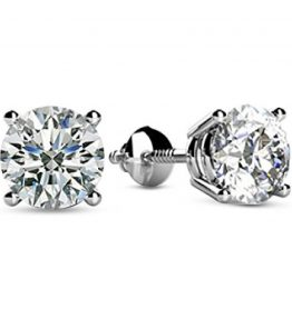 12-1-12-Carat-Total-Weight-Round-Diamond-Stud-Earrings-4-Prong-Screw-Back-D-E-Color-VS1-VS2-Clarity-0