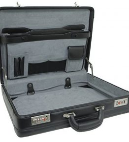 Alpine-Swiss-Expandable-Leather-Attache-Briefcase-Dual-Combination-Locks-1-Year-Warranty-0