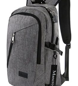 Anti-Theft-Business-Laptop-Backpack-with-USB-Charging-Port-Fits-UNDER-17-inch-Laptop-by-Mancro-0