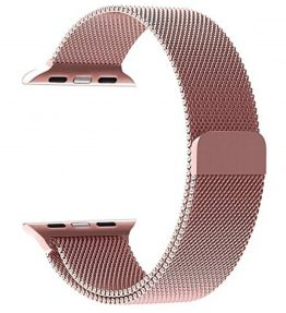Apple-Watchband-Perman-Milanese-Magnetic-Loop-Stainless-Steel-Watch-Band-Strap-for-Apple-Watch-38mm-Rose-Gold-0
