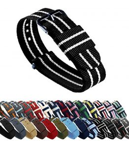 BARTON-Watch-Bands-Choice-of-Color-Length-Width-18mm-20mm-22mm-or-24mm-Ballistic-Nylon-Straps-0
