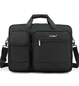 CoolBell-173-Inch-Laptop-Briefcase-Protective-Messenger-Bag-Nylon-Shoulder-Bag-Multi-functional-Hand-Bag-For-Laptop-Ultrabook-Tablet-Macbook-Dell-HP-MenWomenBusiness-Black-0