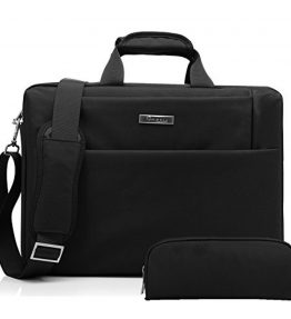 CoolBellTM156-inch-Laptop-Bag-with-free-buggy-bag-Messenger-one-shoulder-Briefcase-hand-bag-Waterproof-Oxford-Cloth-Multi-compartment-For-iPad-ProMacbookAsusLenovo-for-Men-WomenBusinessBlack-0