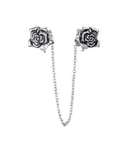 Evelots-Vintage-Antiqued-Silvertone-Rose-Sweater-Clip-Stylish-Collar-Clip-0