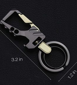 Fencher-key-chain-bottle-opener-with-2-Extra-key-rings-and-Gift-Box-heavy-duty-car-keychain-Silver-0