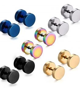 Feramox-Stainless-Steel-Mens-Womens-Stud-Earrings-Set-Ear-Piercing-Plugs-Tunnel-Punk-Style-0