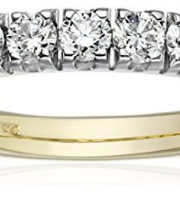 IGI-Certified-14k-Gold-Diamond-Prong-Anniversary-Ring-1cttw-H-I-Color-SI2-I1-Clarity-0