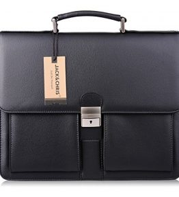 JackChris-Mens-New-PU-Leather-Briefcase-Messenger-Bag-Laptop-Bag-MBYX015-0