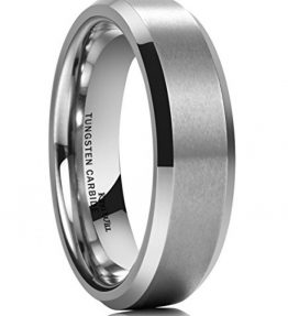 King-Will-6MM-Wedding-Band-For-Men-Tungsten-Carbide-Ring-Engagement-Ring-Comfort-Fit-Beveled-Edges-0