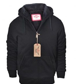 Mens-BigTall-Full-Zip-Sherpa-Lined-Fleece-Hoodie-Jackets-Black-3XL-0