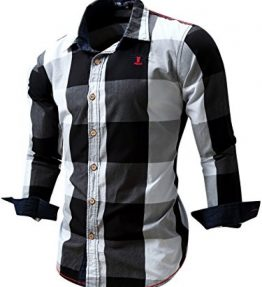 Neleus-Mens-Slim-Fit-Long-Sleeve-Button-Down-Shirts-0