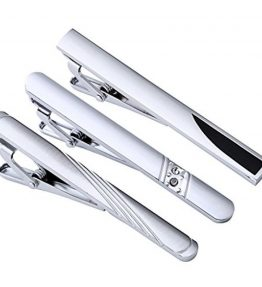 PiercingJ-3pcs-Set-Stainless-Steel-Exquisite-GQ-Classic-Tie-Bar-Clip-Silver-Tone-23Inches-0