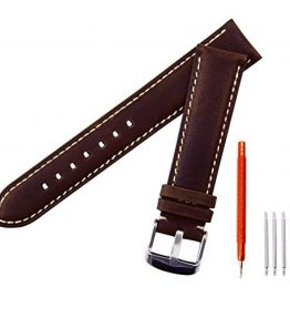 Ritche-18mm-20mm-22mm-Leather-Watch-StrapWatch-Band-Wrist-Replacement-Pin-Buckle-Black-Brown-0