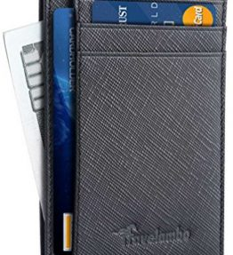 Travelambo-Front-Pocket-Wallet-Minimalist-Wallets-Leather-Slim-Wallet-Money-Clip-RFID-Blocking-black-0