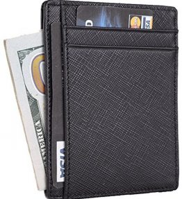 Travelambo-RFID-Front-Pocket-Wallet-Minimalist-Wallet-Slim-Wallet-Genuine-Leather-0