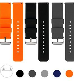 Vetoo-22mm-Quick-Release-Watch-Bands-Silicone-Watch-band-with-Adjustable-Metal-Clasp-Pack-of-3-0