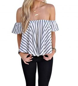 Lisingtool-Womens-Off-Shoulder-Stripe-Casual-Blouse-Shirt-Tops-0