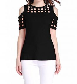 Sarin-Mathews-Womens-Cold-Shoulder-Hollow-Out-Short-Sleeve-Casual-T-shirt-Tops-0
