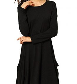 Womens-Casual-Loose-Swing-Basic-Cotton-Tunic-Dresses-0