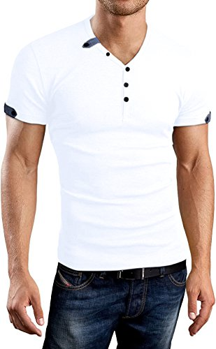 d0afec9c6 AIYINO Mens Summer Casual V-Neck Button Cuffs Cardigan Short Sleeve T-Shirts  | Katodorin Shopping Store. »